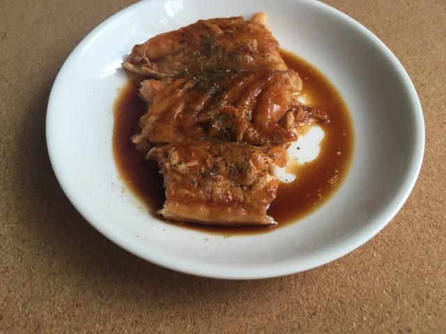 鮭ハラスの蒲焼き